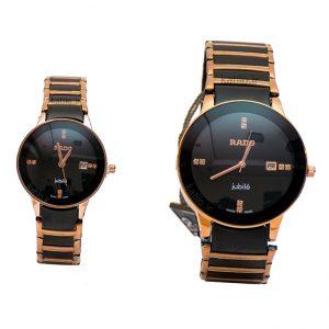 خرید ساعت ست زنانه و مردانه رادو Rado مشکی رزگلد