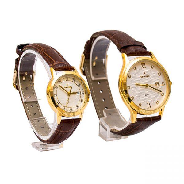 خرید ساعت ست زنانه و مردانه رومانسون Romanson قهوه ای