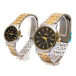 خرید ساعت ست زنانه و مردانه رومانسون Romanson استیل طلائی