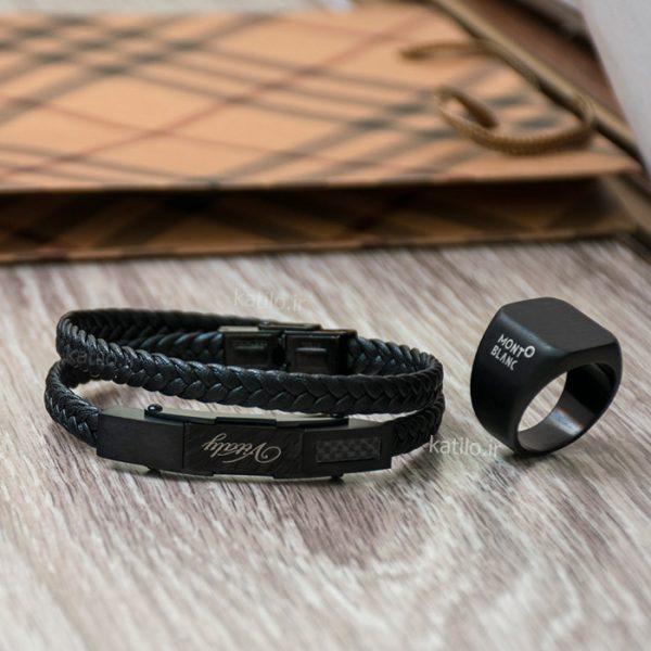 خرید دستبند چرم ویتالی Vitaly مشکی